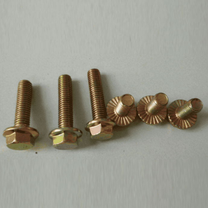 4.8 Color-Zinc flange bolt