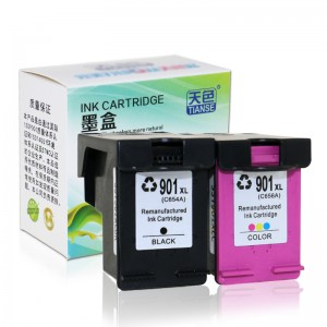 Compatible K / CMY Ink Cartridge 901XL bo HP Li ser kaxezê HP OFFICEJET / J4580 / J4660 / 4500 all-in-one / 4500