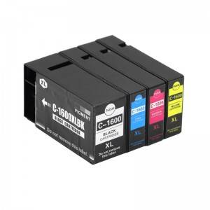 Rehefa Jerena K / C / M / Y Ink Cartridge PGI1600XL for Canon Printer MAXIFY / MB2360 / MB2060 / IB4060