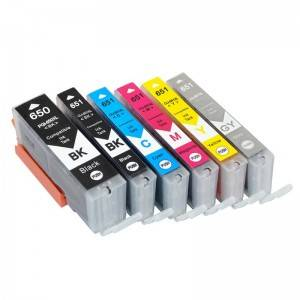 Compatible K / CMY inktcartridge PGI650XL voor Canon Printer PIXMA / MG-5450 / MG-5560 / MG-5660 / MG-6460 / MG-6540 /