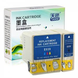 Compatible K / CMY Tinta kartutxoa T038 / 039 Epson Printer C41 for / C43