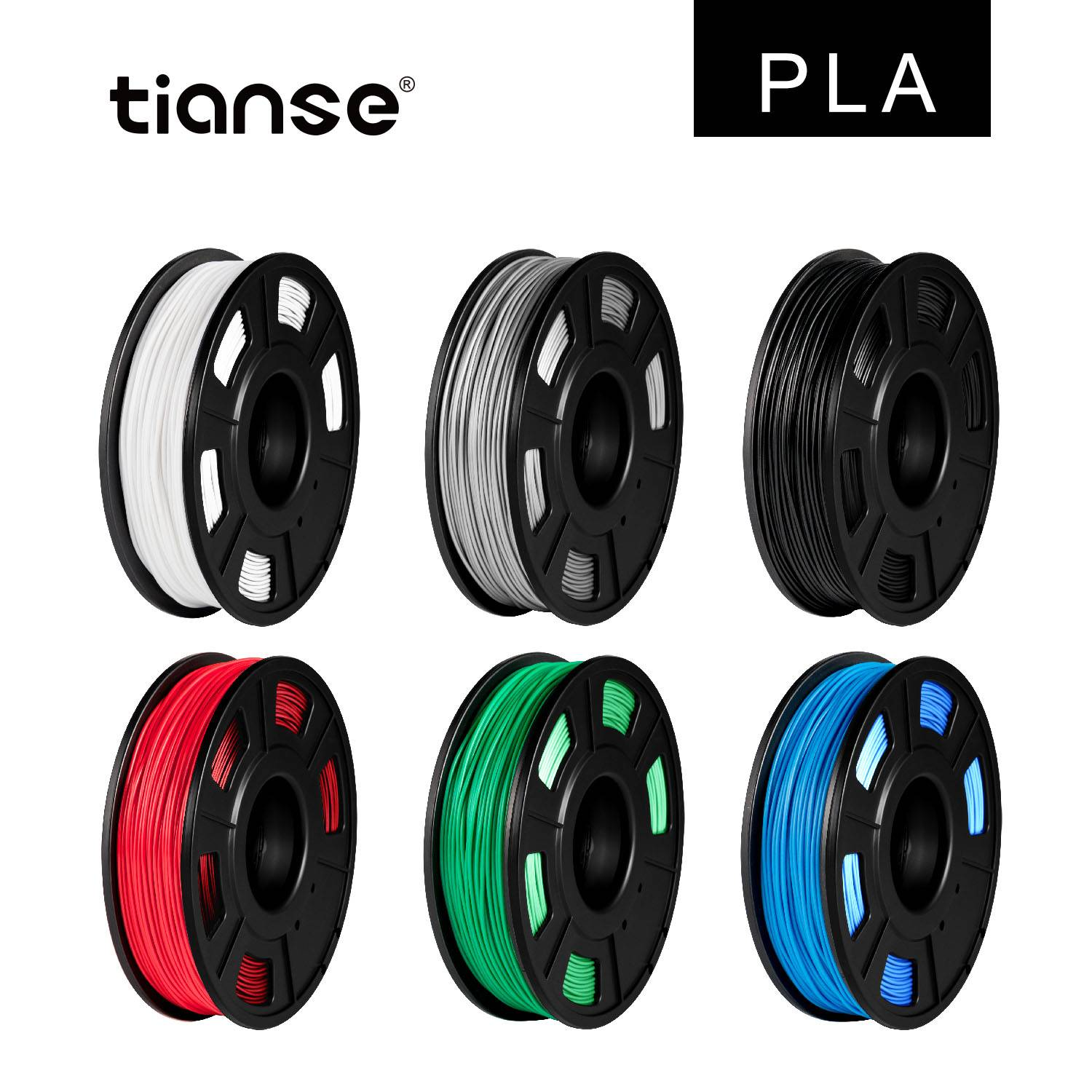 PLA 3D Printing Filament 6 Color Suit