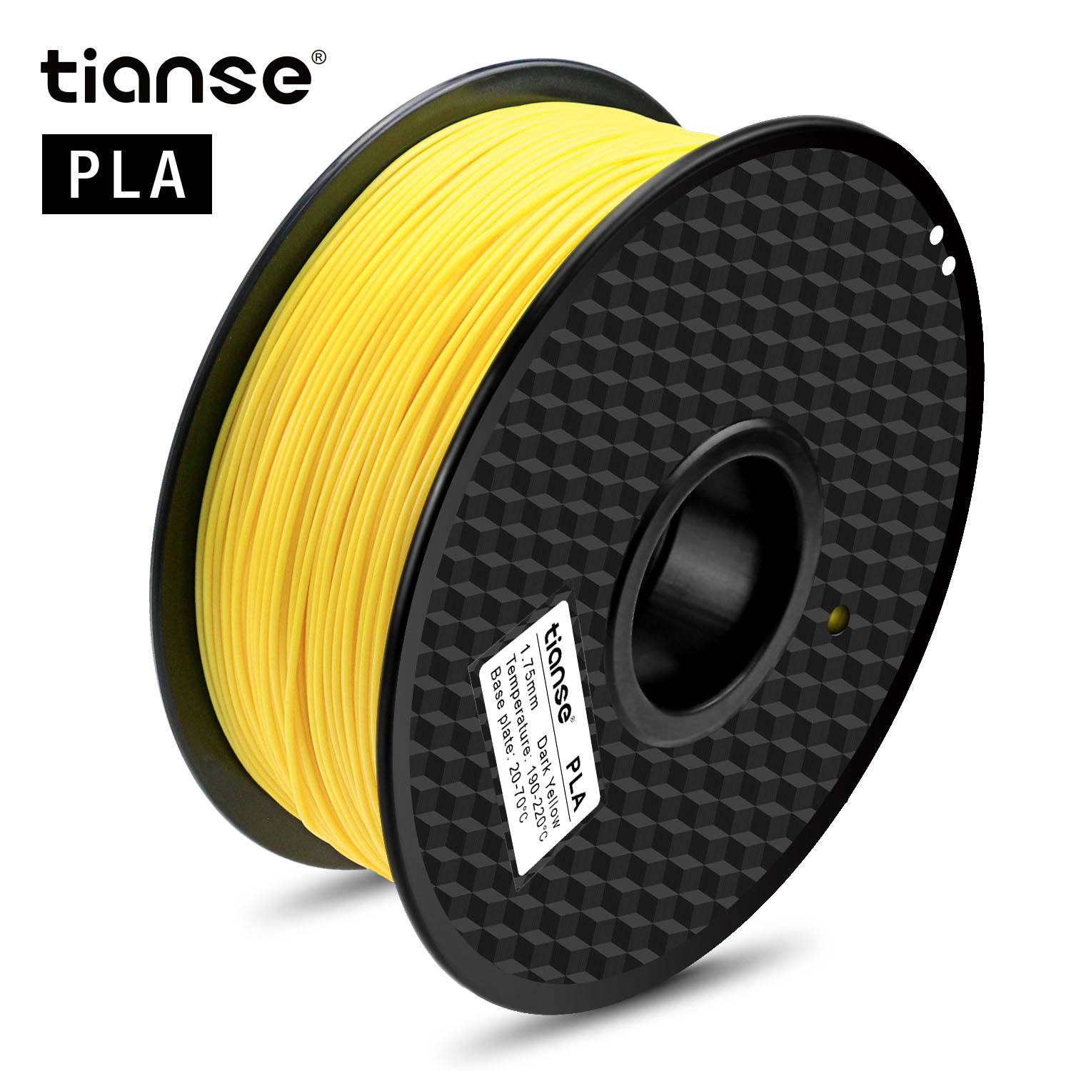 PLA 3D Pai Filament (Dark Yellow)