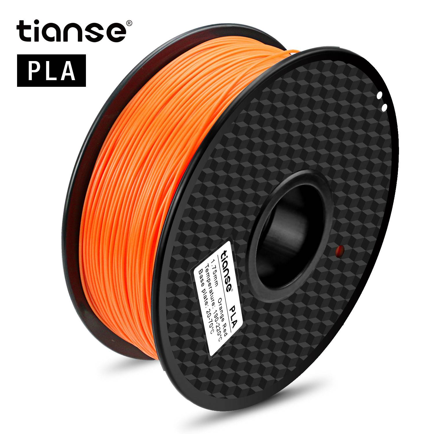 Pla 3D Printing figulines (Orange Red)