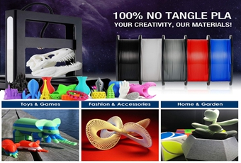 TIANSE Tangle-Free Super PLA 3D Printer Filament Gives You Best Tangle-Free 3D Printing Experience