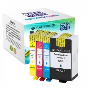 Compatible K / C / M / Y Ink Cartridge 905XL bo HP Li ser kaxezê HP OFFICEJET / 6950 / OFFICEJET / refaqetê / 6960/6970
