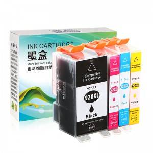 Compatible K / C / M / Y Ink Cartridge 920XL bo HP Li ser kaxezê HP OFFICEJET / 6000/7000