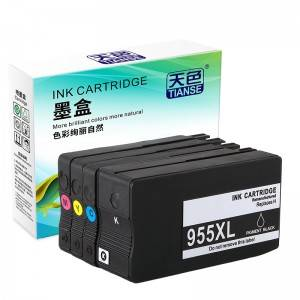 Compatible K / C / M / Y Ink Cartridge 955XL bo HP Li ser kaxezê HP OFFICEJET / refaqetê / 7740/8210/8216/8710/8720/9725/8730/8740