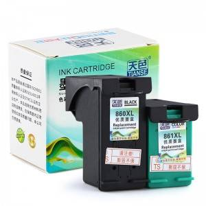 Compatible K / CMY Ink Cartridge 860 / 861XL bo HP Li ser kaxezê DESKJET / D4268 / OFFICEJET / J5788 / PhotoSmart / C4288 / C5288