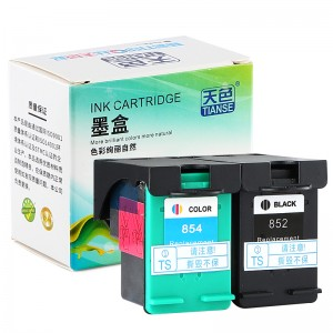 Compatible K / CMY Ink Cartridge 852/854 ji bo HP Li ser kaxezê HP DESKJET / HP PSC / 1508 / PhotoSmart / 7828