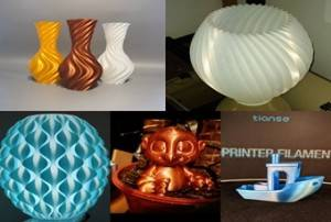 Top 9 3D Prints Printed in TIANSE Silk PLA 3D Printer Filament