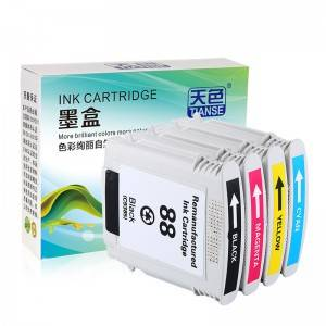Compatible K/C/M/Y Ink Cartridge 88XL / C9396 / 1 / 2 / 3 for HP Printer HP OFFICEJET/ PRO-/ K5400DN/ K550/ K550DTN/ K8600/ L7580/ L7590