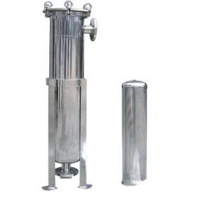 Single bag filter housing