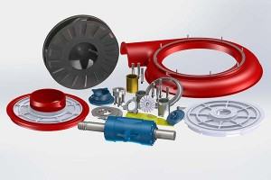 Interchangeable spare parts for Warman pump