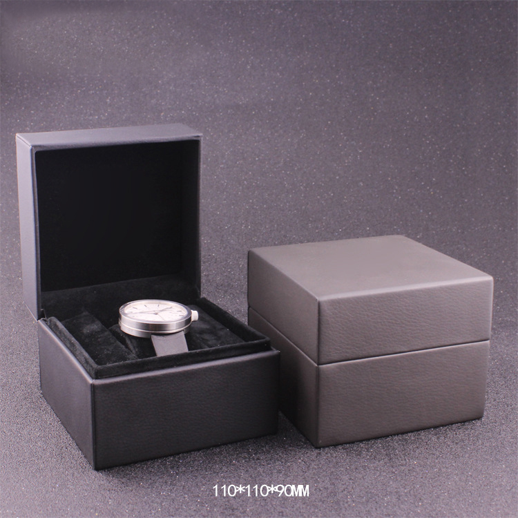Custom Logo printed cheap engraved leather watch box for packaging