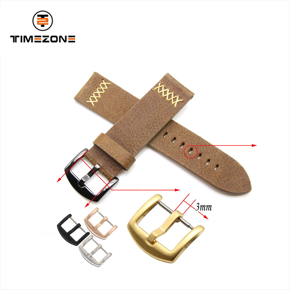18 20 22 24mm strap pin buckle RVS watch band gesp