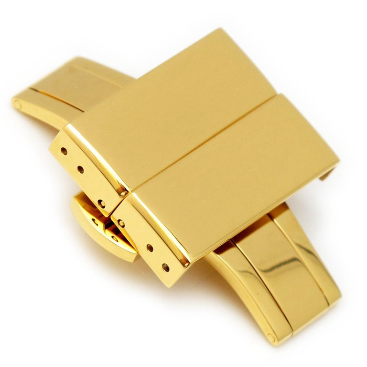 20mm 22mm 24mm Deployment Buckle IP Gold Clasp with Release Button