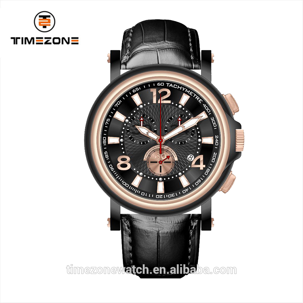 Chronograph watch army polit wrist watches OEM factory watches