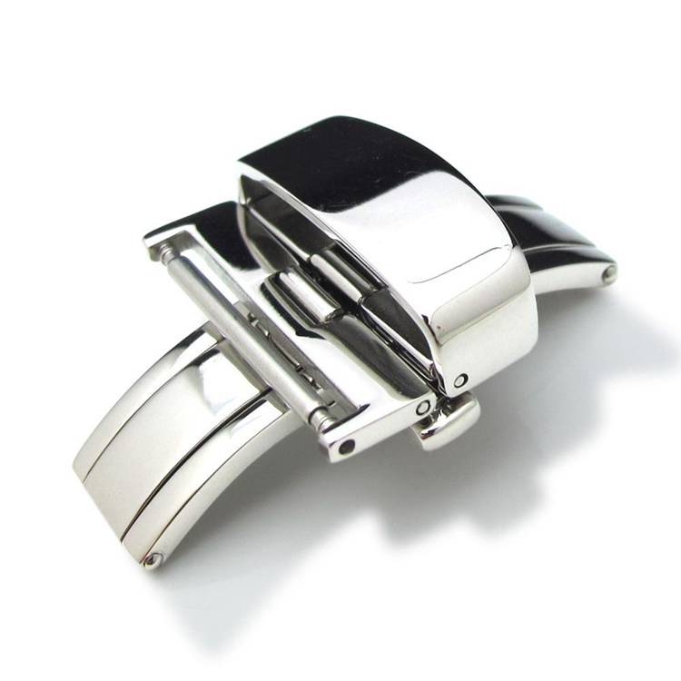 18mm Stainless Steel Double Deployment Clasp Buckle