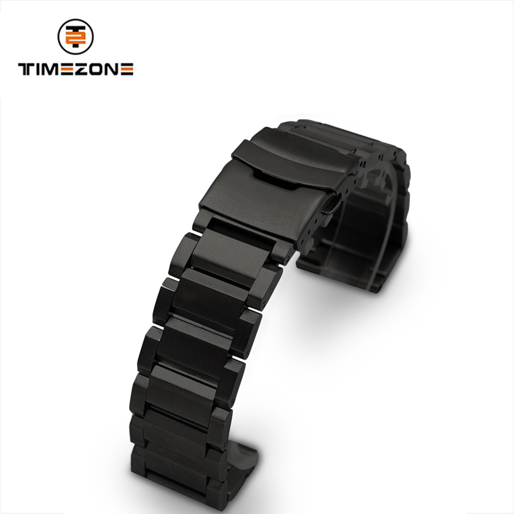 Wholesale 20 22 24mm stainless steel Safety buckle Watch band