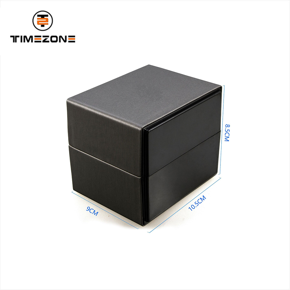 TZ-18106B luxury packaging box pu leather single watch box