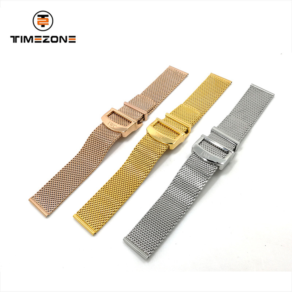 2019 mesh strap 20mm folding buckle stainless steel watch accessories