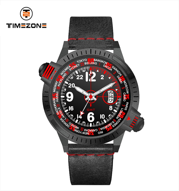 Timezone Watches Men Wrist OEM Brand