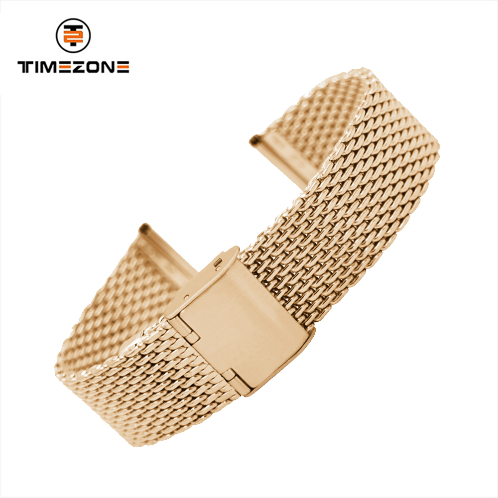 18mm 20mm 22mm metal band mesh watch bracelet