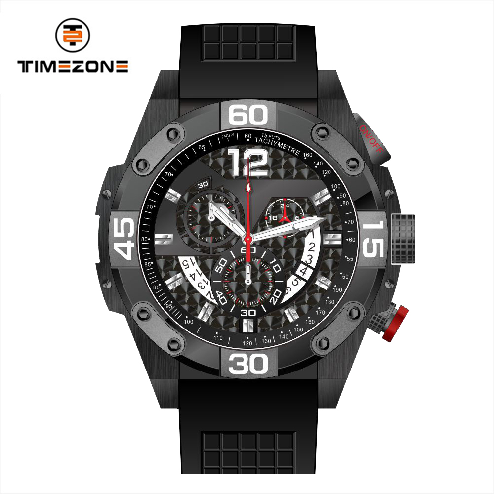 2018 custom quartz watches rubber band strapmulti function digital watch for men