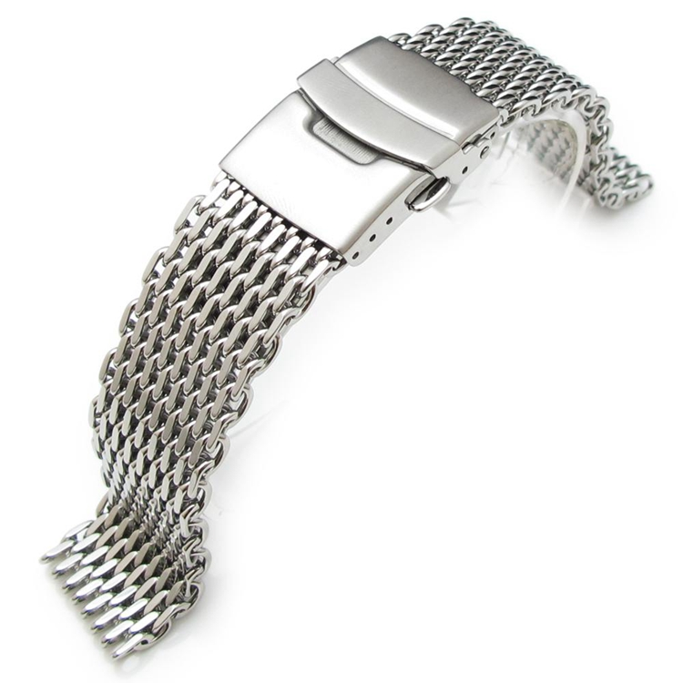 20mm Diver Strap Ploprof Stainless Steel SHARK Mesh Watch Band