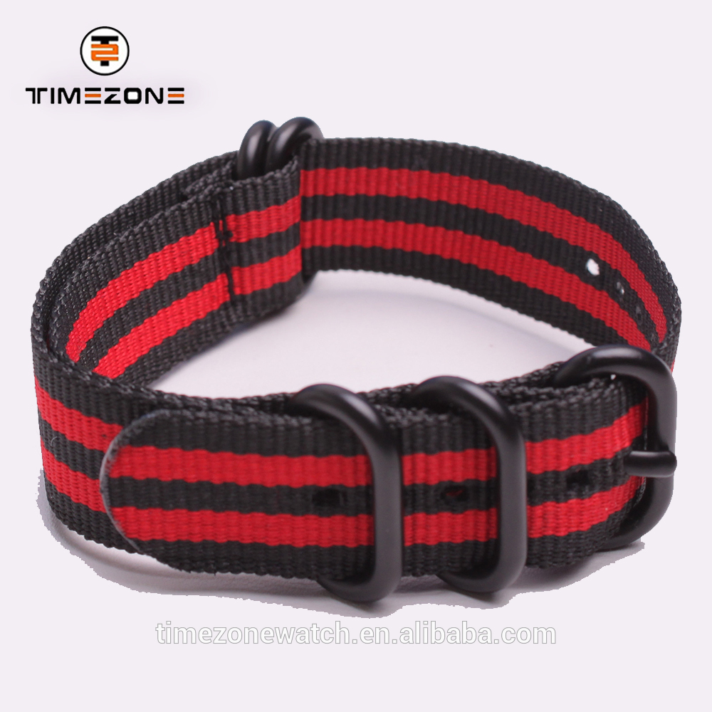 Latest design watchband easy wear high quality nylon watch strap