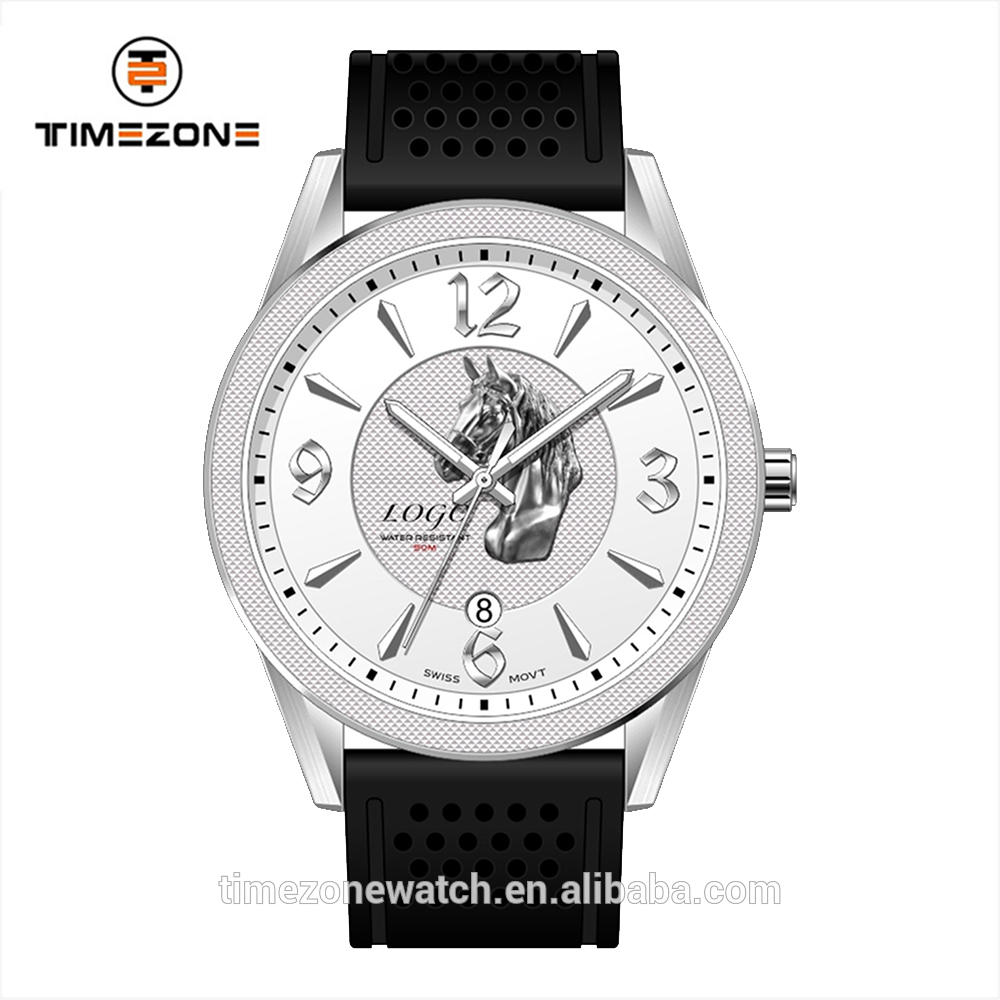 Limited edition watch business man superior quality leather strap watches