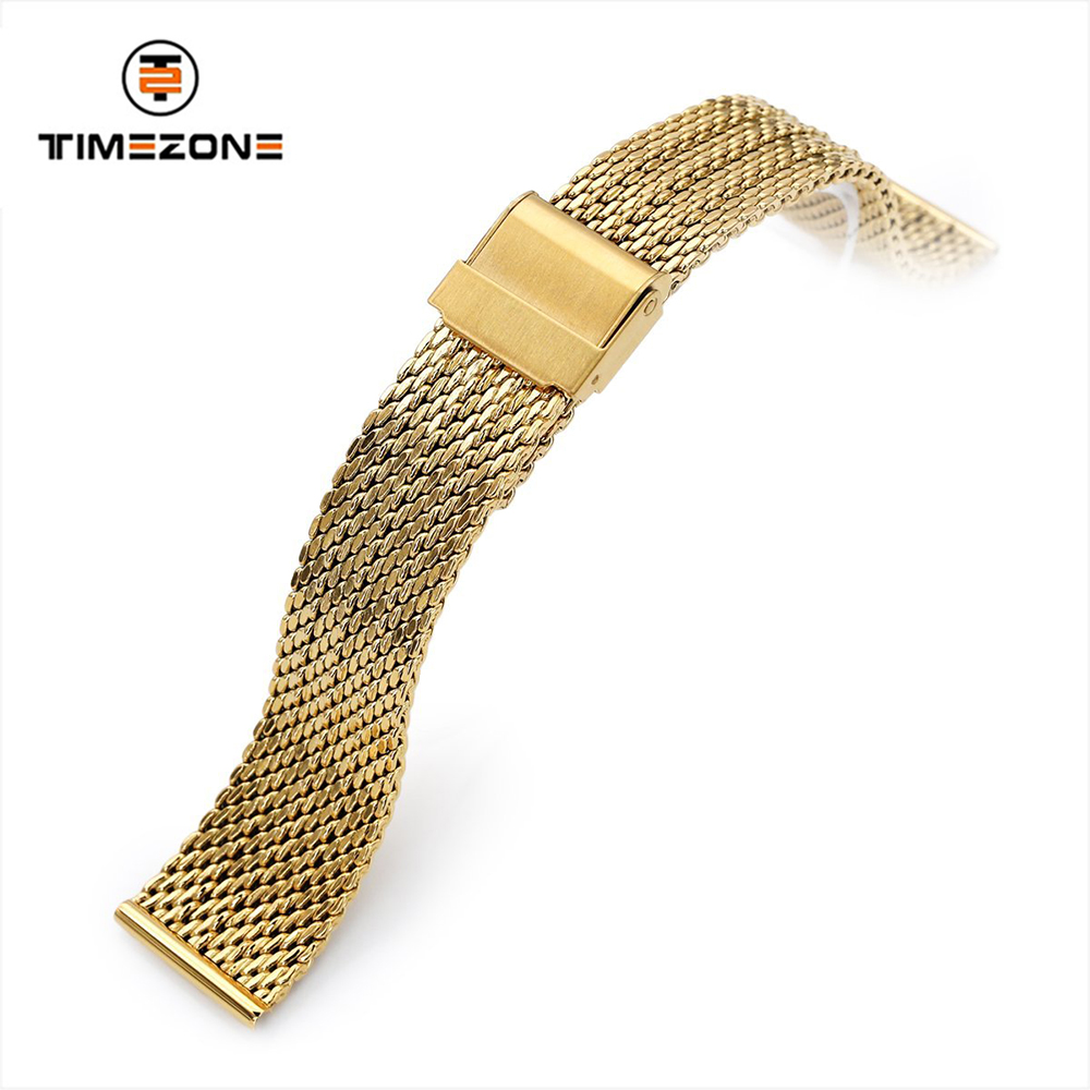 20mm 316L stainless steel IP gold Mesh Band