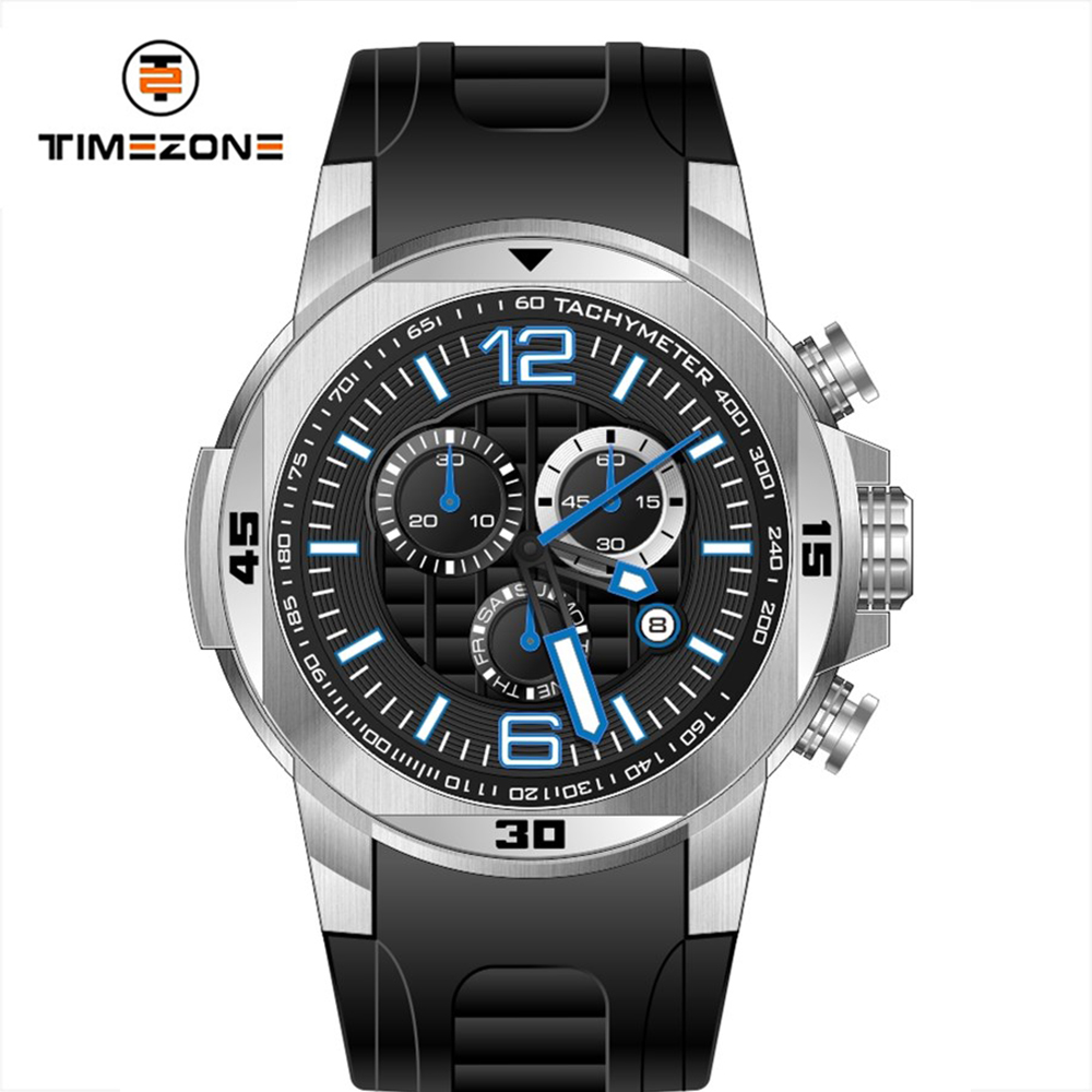 Timezone watch manufacturers japan movt watches stainless steel oem pilot uhr heavy watches