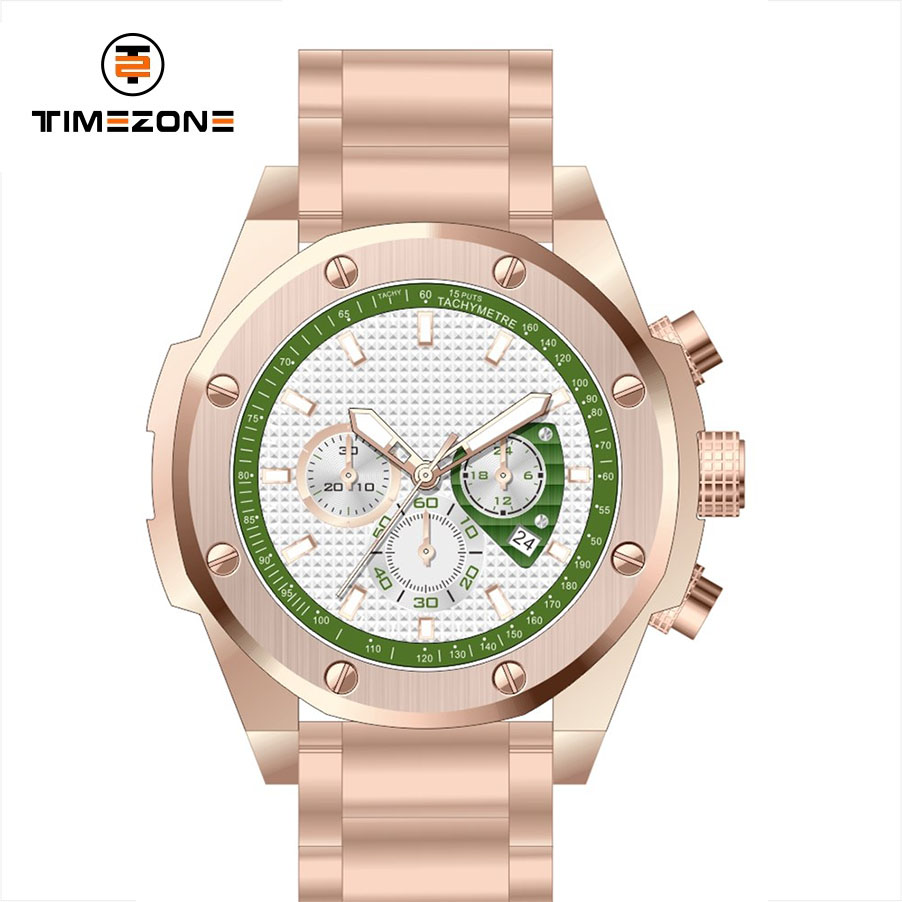 Men Automatic Mechanical Waterproof Stainless Steel Calendar Wrist Watches