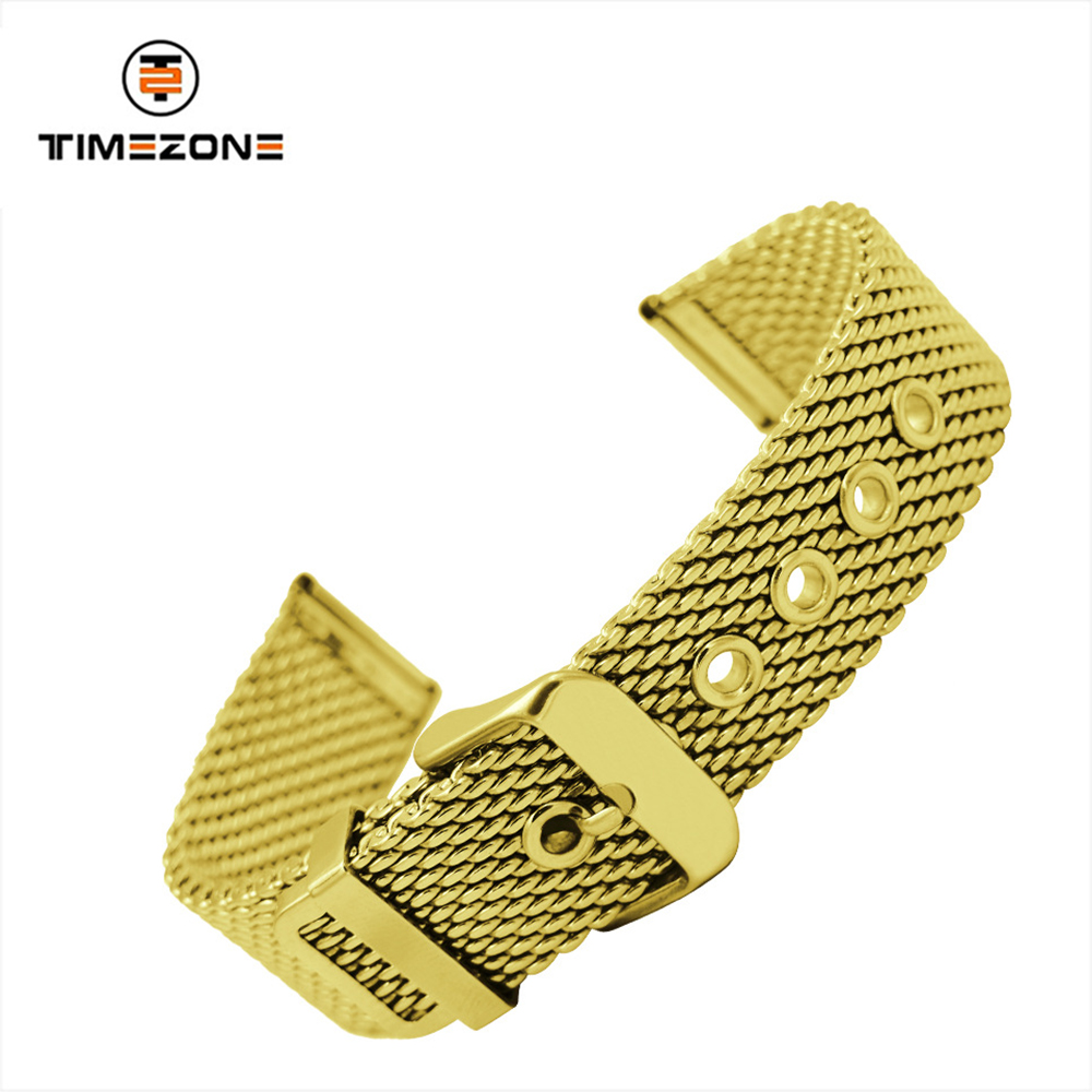 1.0 thick mesh strap stainless steel watch band