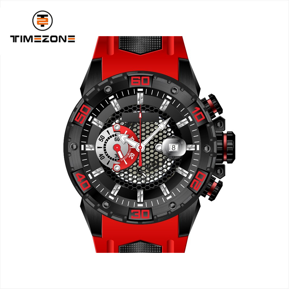 Factory price OEM colorful Waterproof Watches Men sport and pilot Watches with silicone band