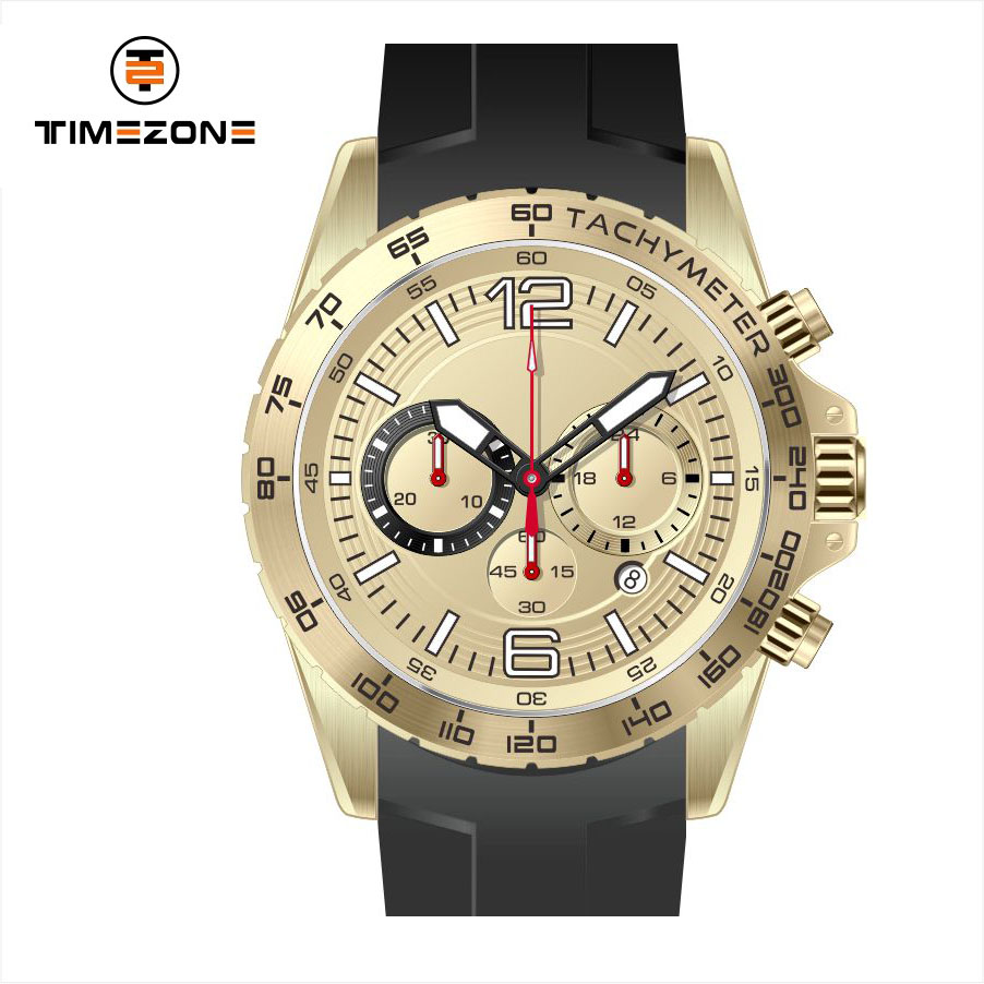 2017 timezone branded multifunction japanese men watches custom logo brand watches