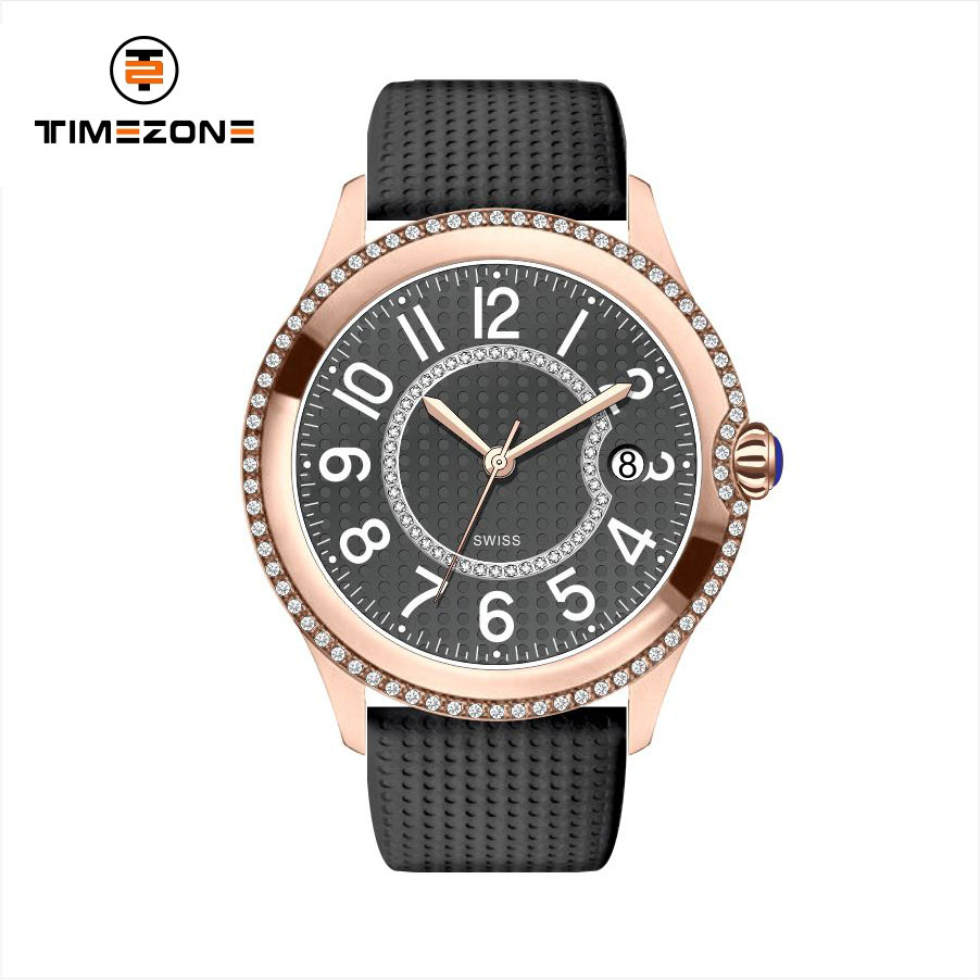 Ladies Casual setting diamond singapore movement high quality quartz wristwatches