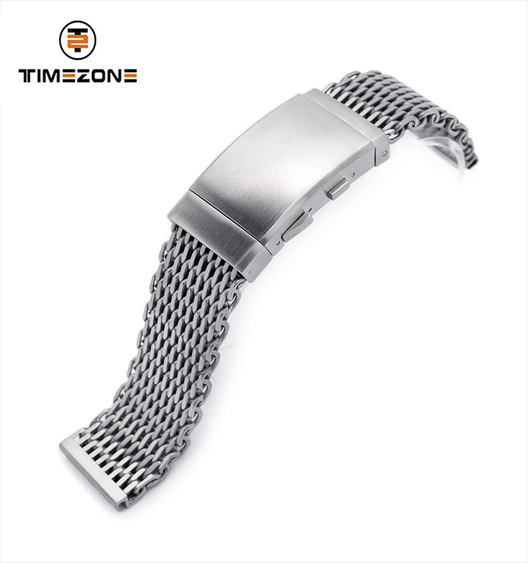 22mm diver clasp Stainless Steel V Clasp Brushed Watch Bracelet watch accessories