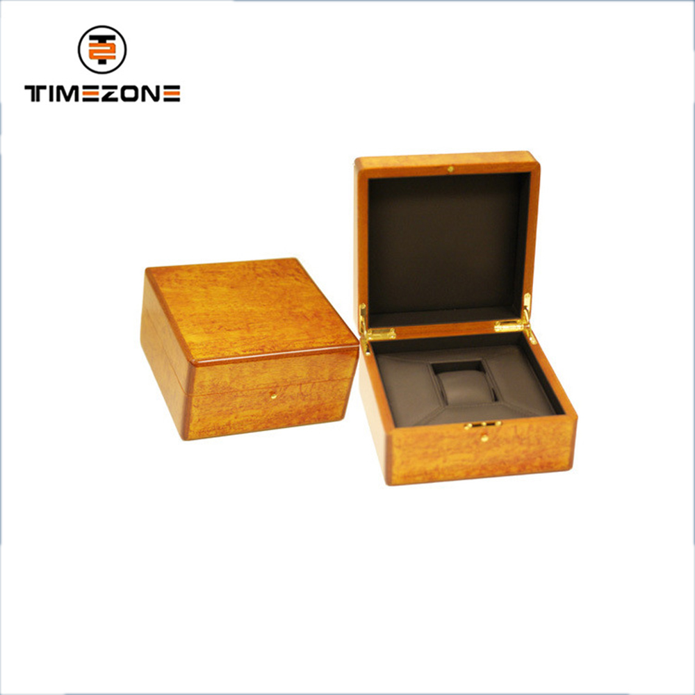 Custom Made Fashion Designer single solid Wooden packing Watch Boxes