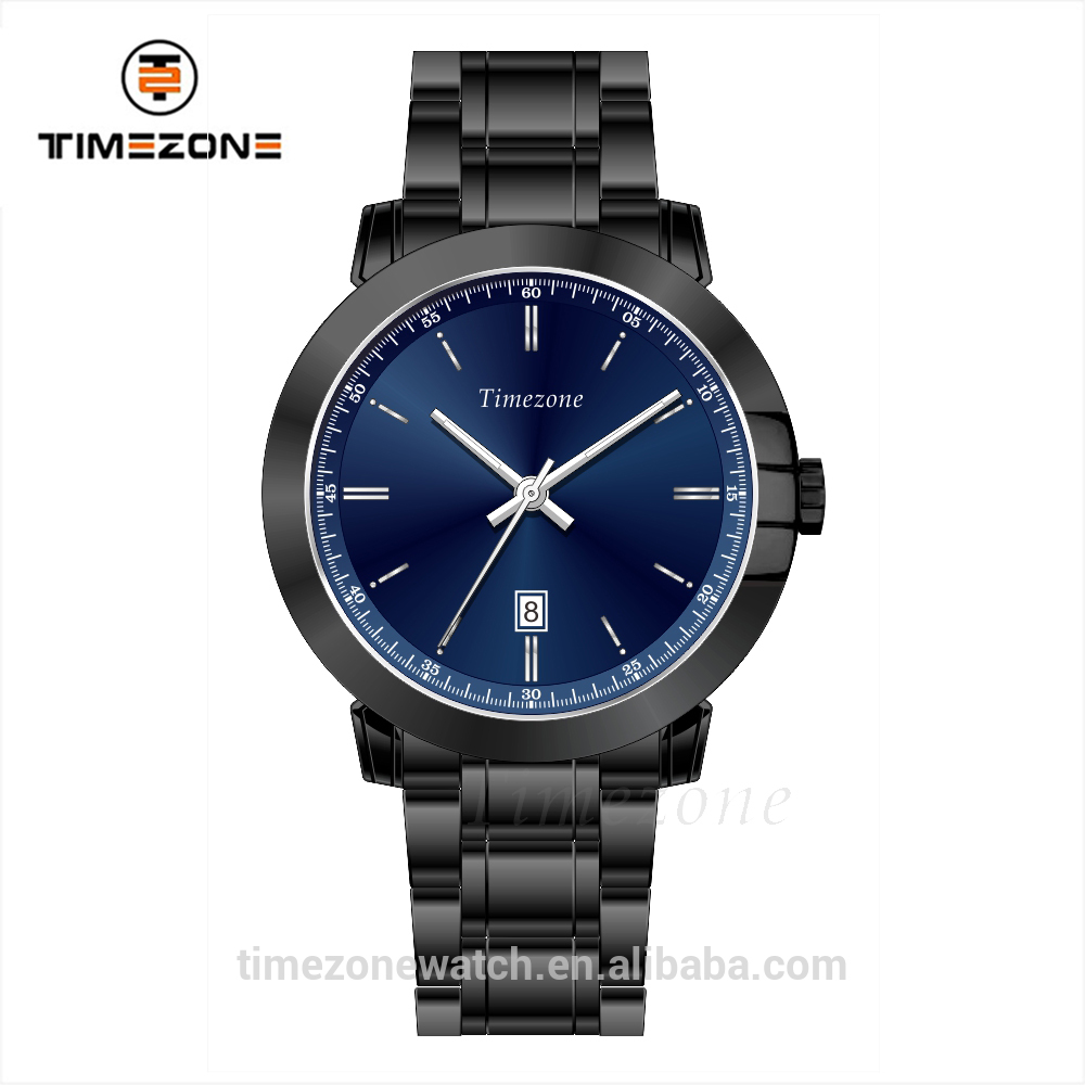 Japan movt quartz watch stainless steel bezel sunray dial men watch