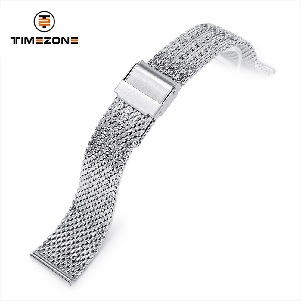 20mm 316L stainless steel Polished Mesh Band