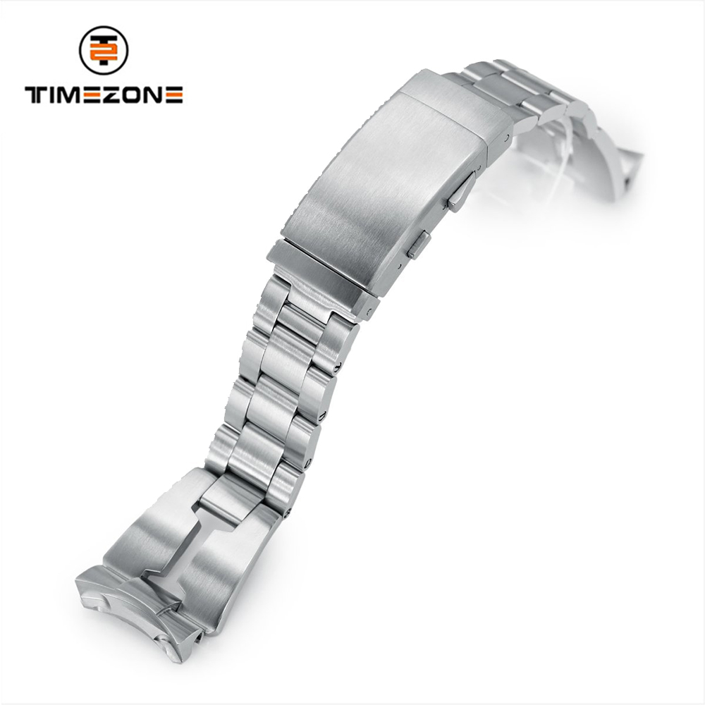 22mm 316L Stainless Steel Curved End Bracelet