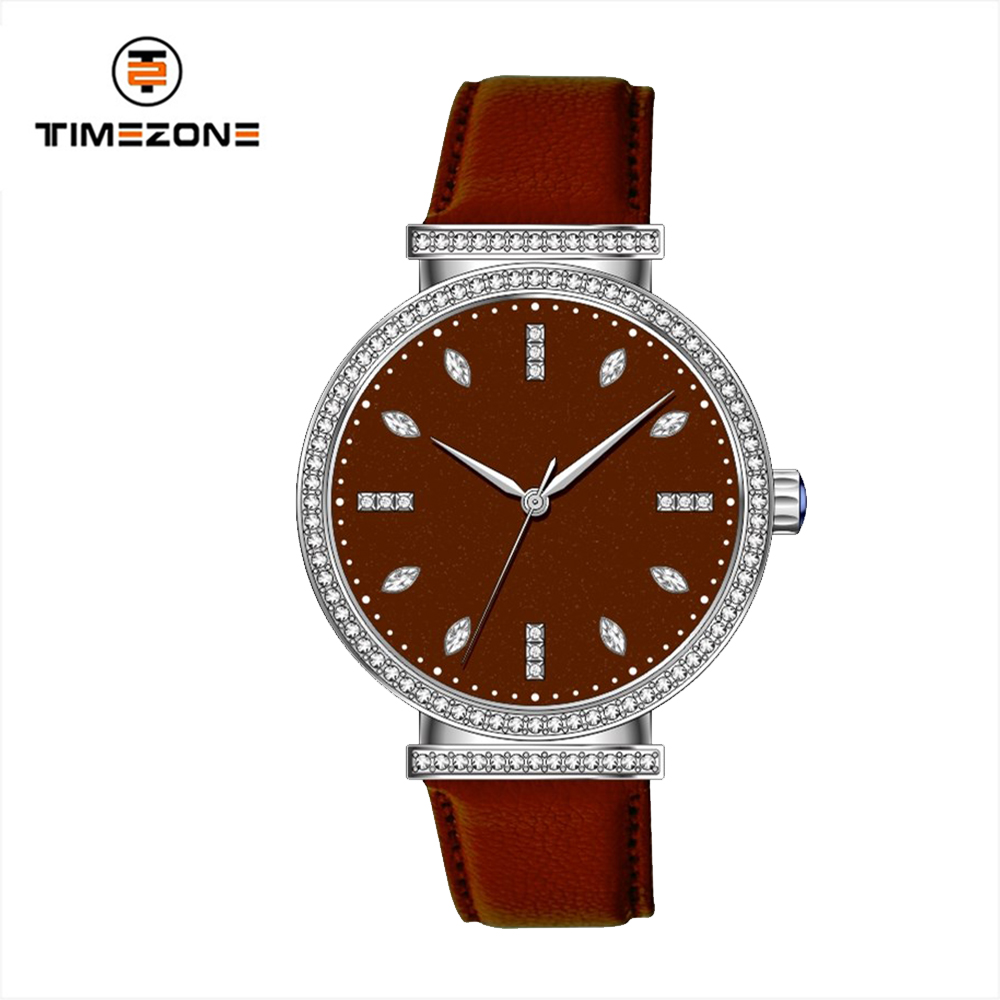 Watches ladies leather strap miyota movement wrist watch