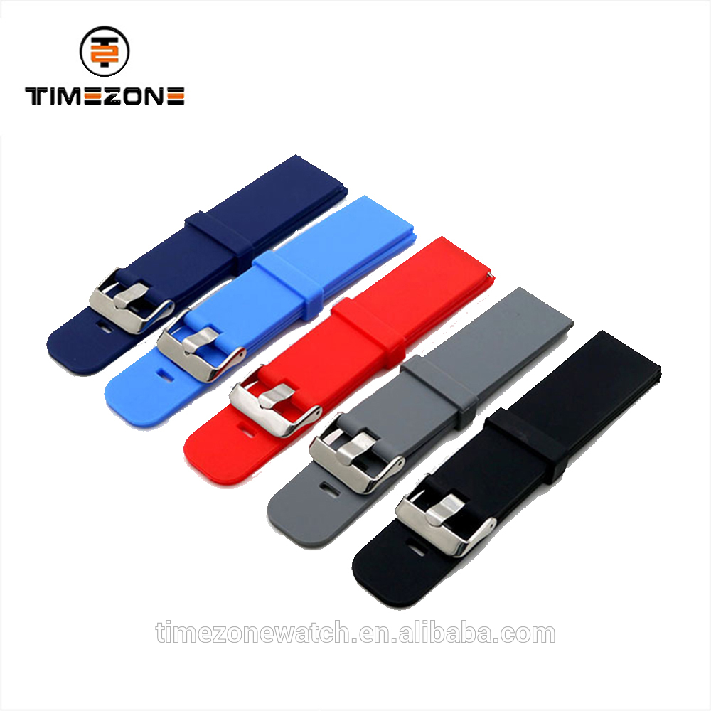 2018 High-quality China custom silicone rubber band wrist watch strap