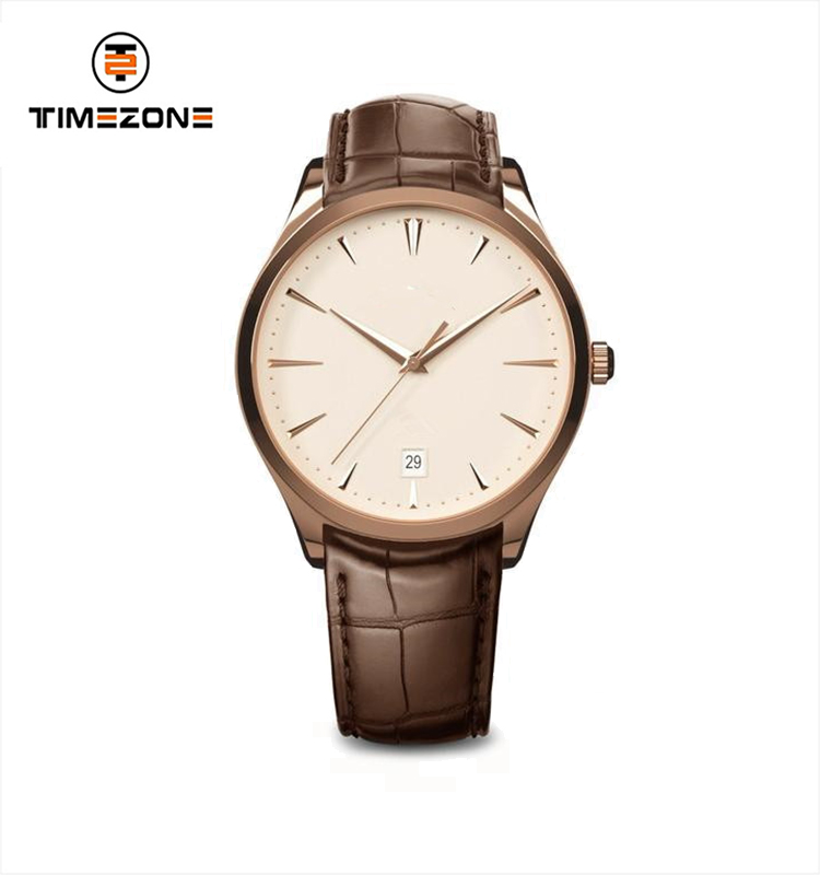 OEM Custom Logo Simple Design Watch Unisex Ultra thin Leather Wrist Watch