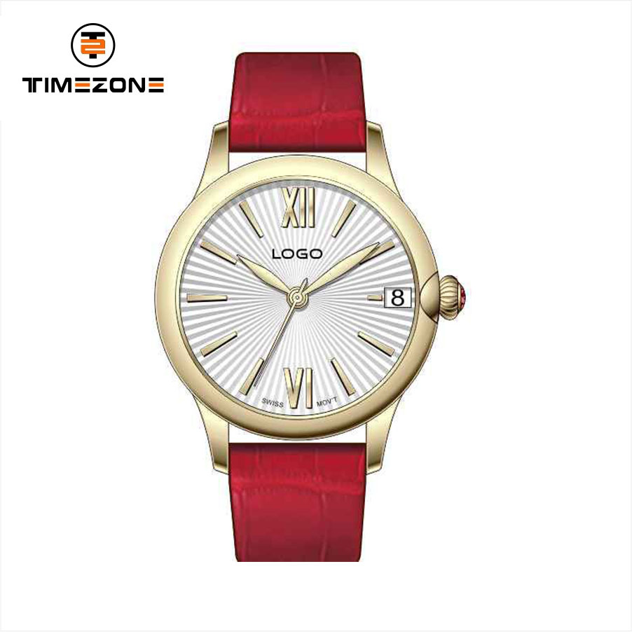 2017 Timezone Casual 3 hands stainless steel beautiful epoch ladies quartz watch