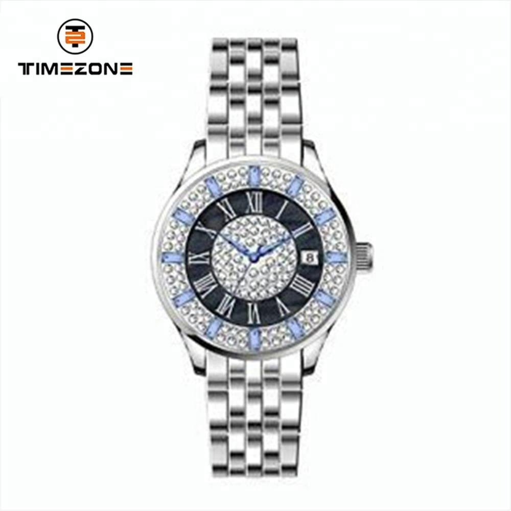 Stainless steel bracelet small moq watch diamond watches for girls
