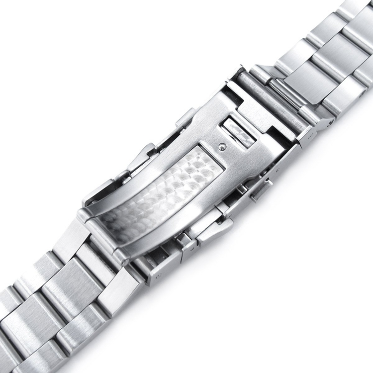 22mm Retro Razor 316L Stainless Steel Buckle Curved End Bracelet